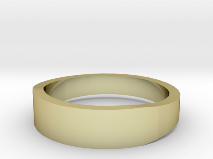 Gold Wedding Ring Tapered Plain Band 3d printed Size 8.5 Yellow Gold 18K
