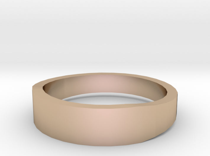 Gold Wedding Ring Tapered Plain Band 3d printed Size 9.0 Rose Gold 14K
