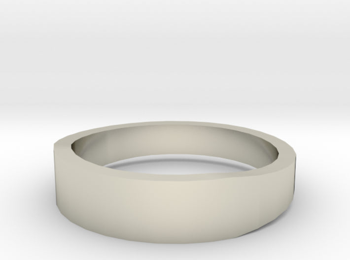 Gold Wedding Ring Tapered Plain Band 3d printed Size 9.0 White Gold 14K