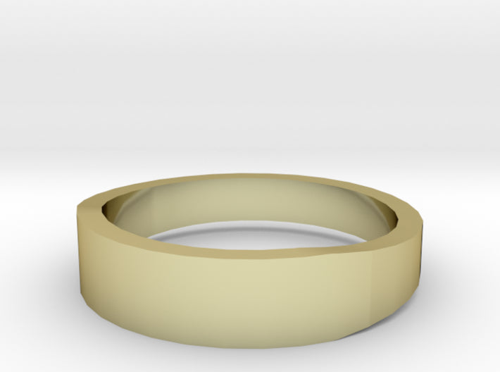 Gold Wedding Ring Tapered Plain Band 3d printed Size 9.0 Yellow Gold 18K