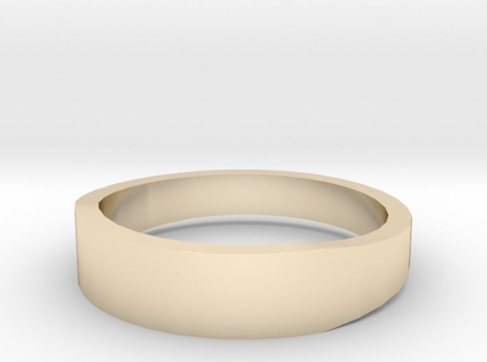 Gold Wedding Ring Tapered Plain Band 3d printed Size 9.5 Yellow Gold 14K