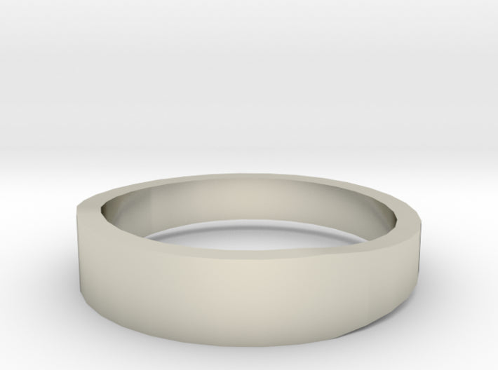 Gold Wedding Ring Tapered Plain Band 3d printed Size 9.5 White Gold 14K