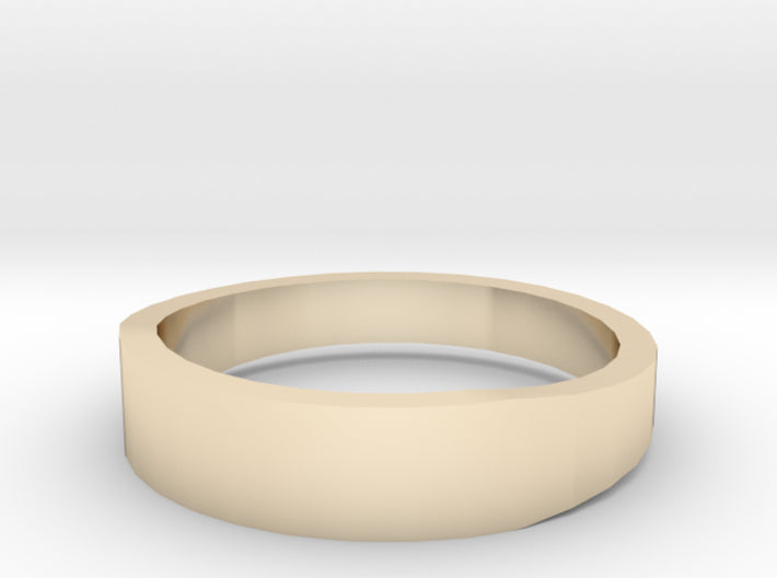 Gold Wedding Ring Tapered Plain Band 3d printed Size 10.0 Yellow Gold 14K
