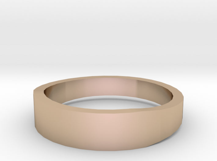 Gold Wedding Ring Tapered Plain Band 3d printed Size 10.0 Rose Gold 14K