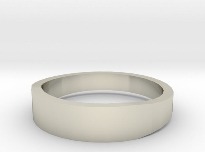 Gold Wedding Ring Tapered Plain Band 3d printed Size 10.0 White Gold 14K