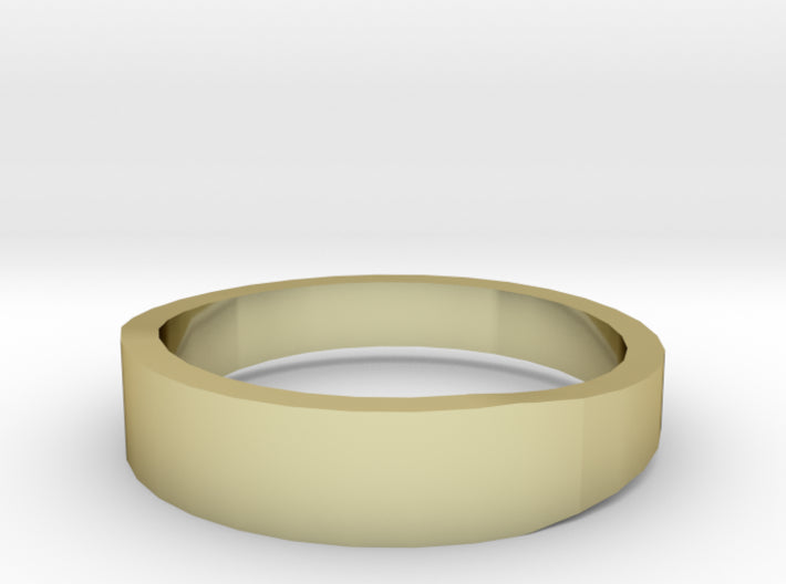 Gold Wedding Ring Tapered Plain Band 3d printed Size 10.0 Yellow Gold 18K