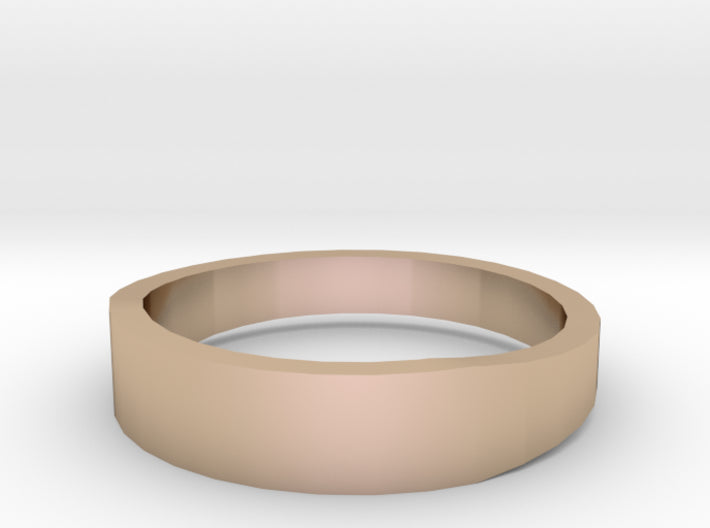 Gold Wedding Ring Tapered Plain Band 3d printed Size 10.5 Rose Gold 14K