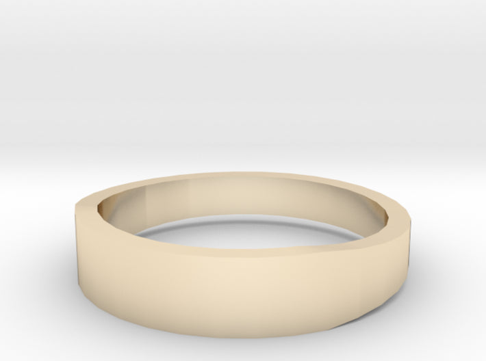 Gold Wedding Ring Tapered Plain Band 3d printed Size 11.0 Yellow Gold 14K