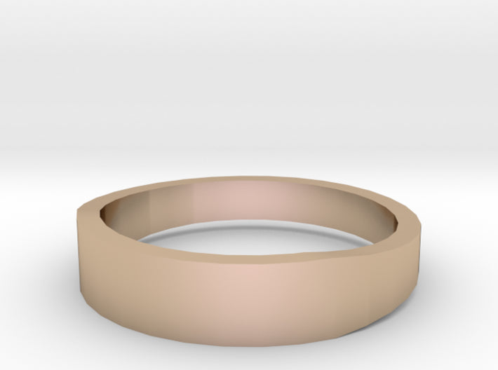 Gold Wedding Ring Tapered Plain Band 3d printed Size 11.0 Rose Gold 14K