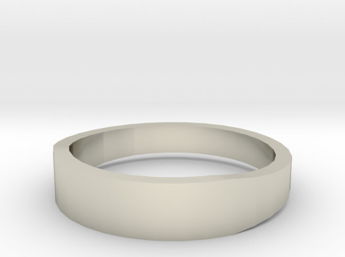 Gold Wedding Ring Tapered Plain Band 3d printed Size 11.0 White Gold 14K