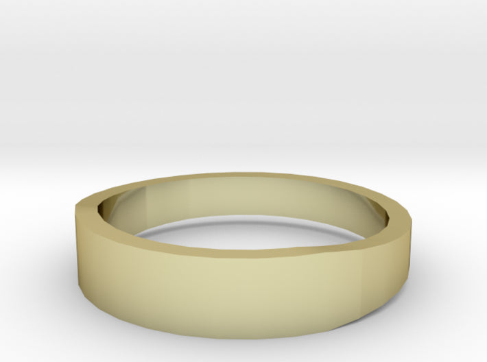 Gold Wedding Ring Tapered Plain Band 3d printed Size 11.0 Yellow Gold 18K