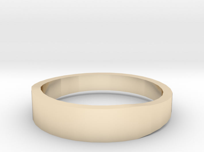 Gold Wedding Ring Tapered Plain Band 3d printed Size 11.5 Yellow Gold 14K