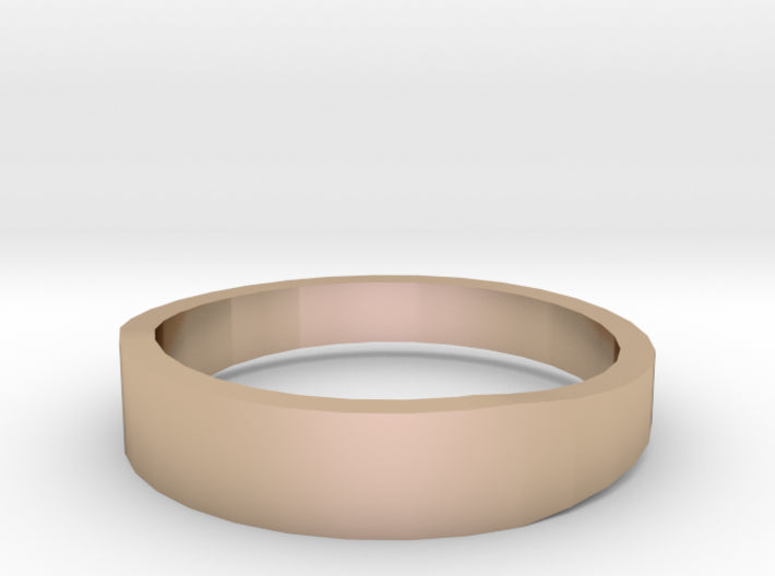 Gold Wedding Ring Tapered Plain Band 3d printed Size 11.5 Rose Gold 14K