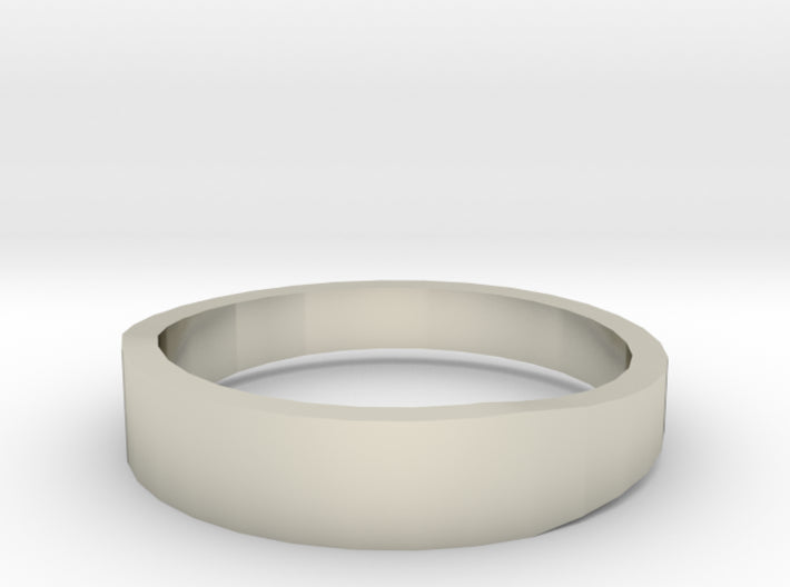 Gold Wedding Ring Tapered Plain Band 3d printed Size 11.5 White Gold 14K