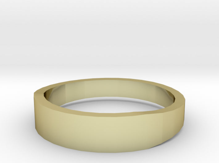 Gold Wedding Ring Tapered Plain Band 3d printed Size 11.5 Yellow Gold 18K