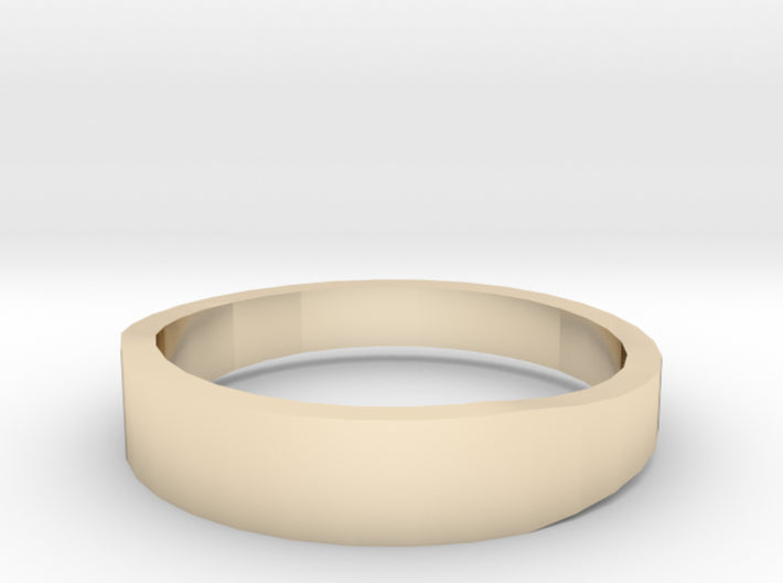 Gold Wedding Ring Tapered Plain Band 3d printed Size 12.0 Yellow Gold 14K