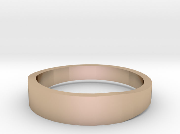 Gold Wedding Ring Tapered Plain Band 3d printed Size 12.0 Rose Gold 14K