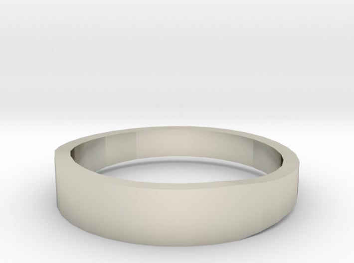 Gold Wedding Ring Tapered Plain Band 3d printed Size 12.0 White Gold 14K