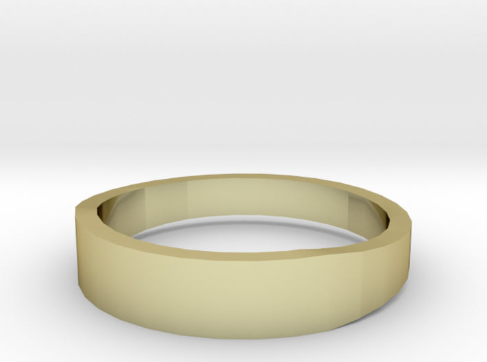 Gold Wedding Ring Tapered Plain Band 3d printed Size 12.0 Yellow Gold 18K