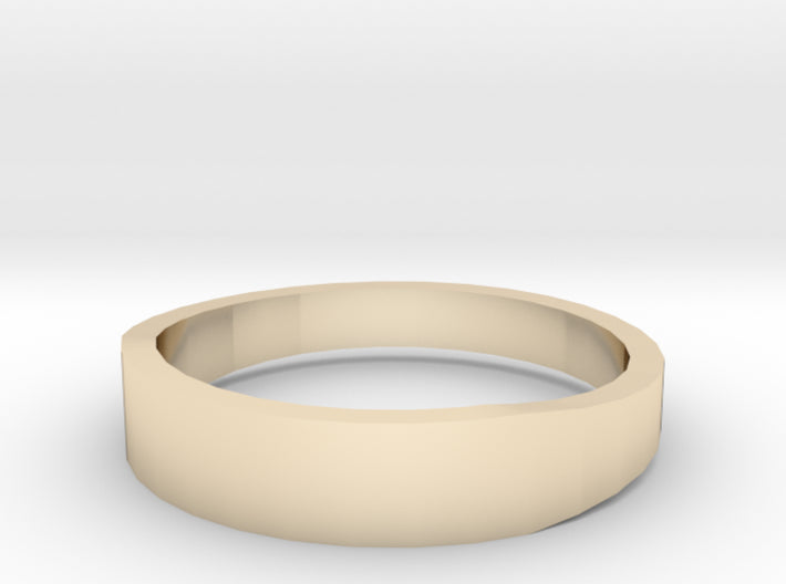 Gold Wedding Ring Tapered Plain Band 3d printed Size 12.5 Yellow Gold 14K