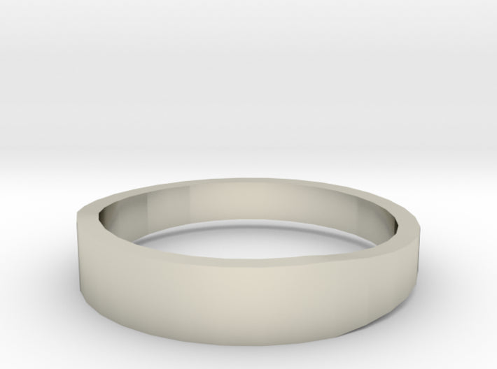 Gold Wedding Ring Tapered Plain Band 3d printed Size 12.5 White Gold 14K