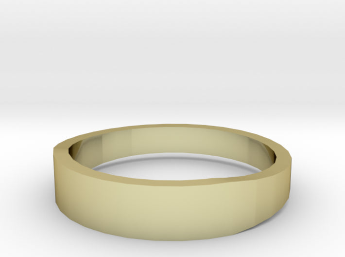 Gold Wedding Ring Tapered Plain Band 3d printed Size 12.5 Yellow Gold 18K