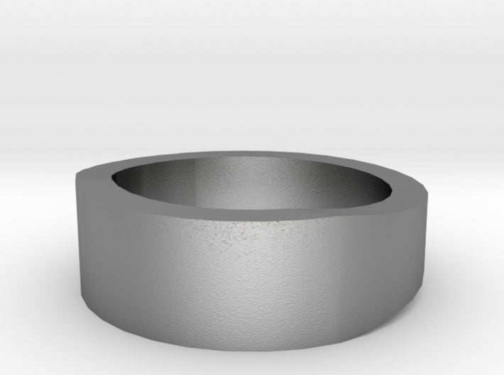 Silver Wedding Ring Tapered Plain Band 3d printed Size 1.5 Natural Silver
