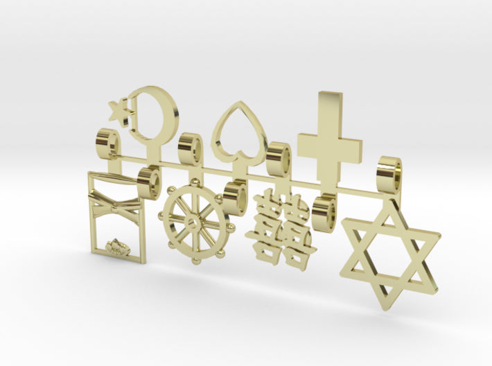 Bridesmaids Religious Mix Pendants 7 3d printed