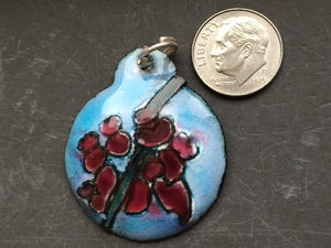 Cloisonne' Pendant Japanese Red Bud