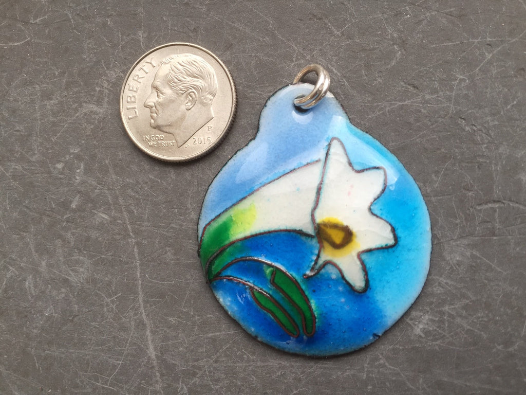 Cloisonne' Pendant Easter Lily a