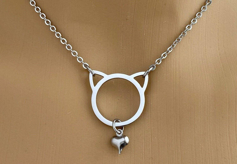 DDlg Discreet Day Collar Infinity Heart 24//7 Wear Submissive Collar