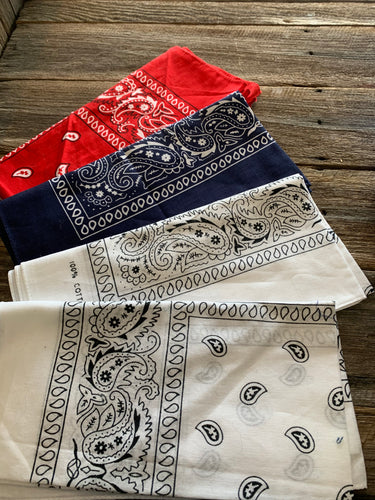 100% COTTON BANDANAS