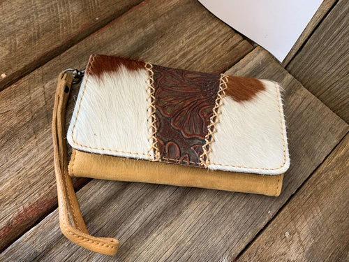 CELL PHONE COWHIDE WALLET
