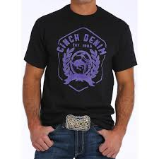 CINCH MENS TEE MARKWELL BLK