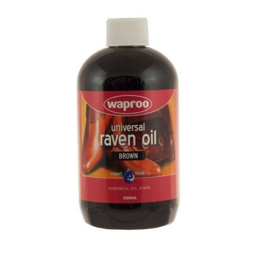 Waproo Raven Oil Leather Dye Brown 500Ml