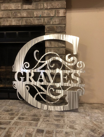 Personalized Monogram - Custom Steel Monograms