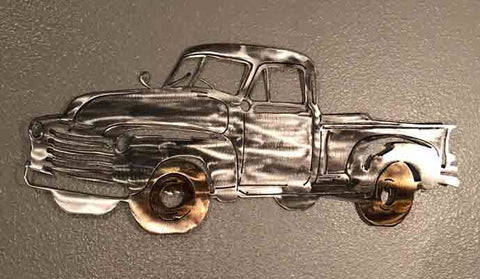 1951 Chevy Truck Metal Wall Decor