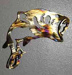 Bass Metal Art, Metal Wall Decor