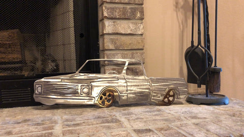Chevy Truck Metal Art - Metal Wall Decor