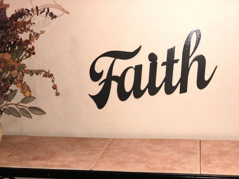 Faith Sign - Metal Wall Decor