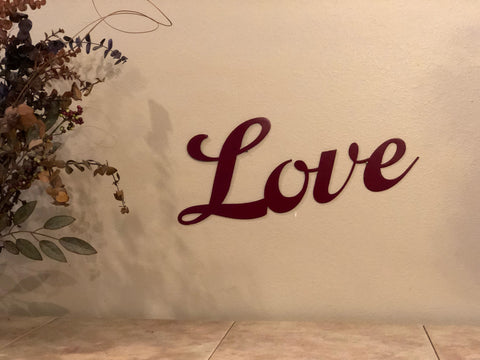 Love Sign - Metal Wall Decor