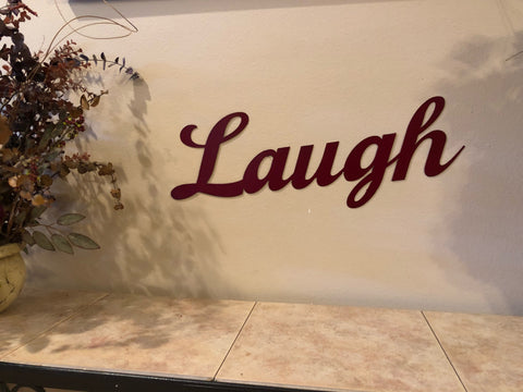 Laugh Sign - Metal Wall Decor