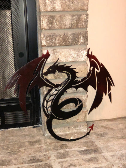 Metal Dragon, Metal Art, Metal Wall Art, Metal Wall Decor
