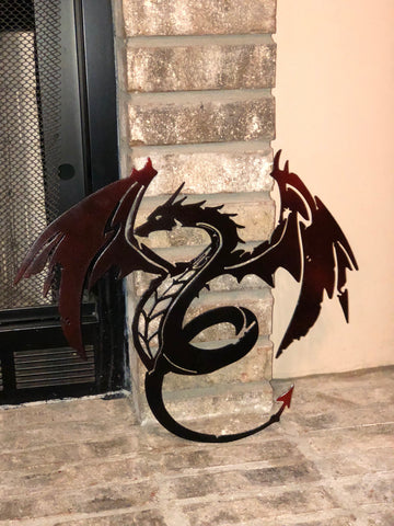 Metal Dragon Decor