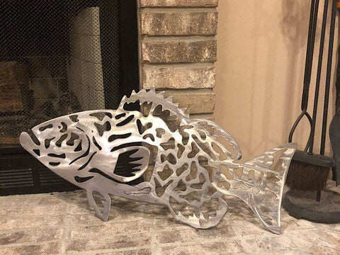 Grouper Metal Wall Decor
