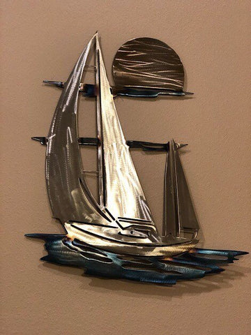 Sailboat Wall Art - Metal Wall Decor