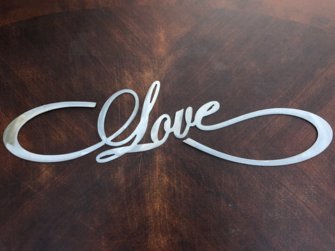 Infinity Love - Metal Wall Decor