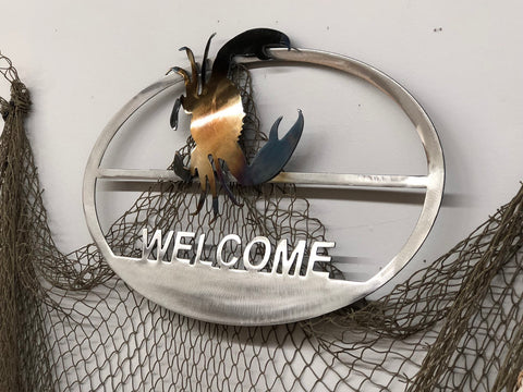 Welcome Sign - Metal Wall Decor