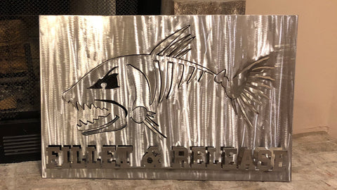 Fillet and Release, Metal Art, Metal Wall Decor