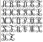 Letter Metal Monogram - Metal Wall Decor